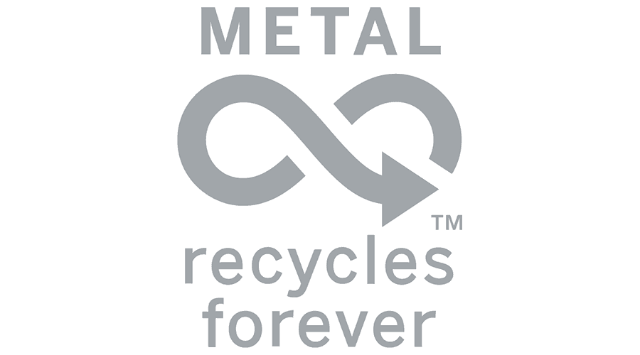 Metal Recycle Forever Logo Vector
