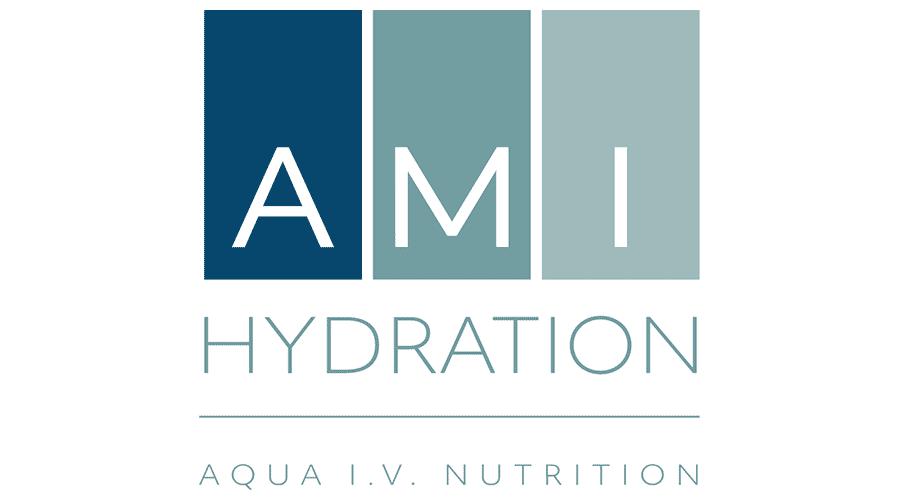 AMI Hydration Aqua I.V. Nutrition Logo Vector